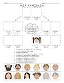 Italian - Mia Famiglia Family - Cut & Paste Reading Comprehension Activity