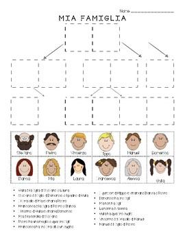 Italian Mia Famiglia Family Tree Cut Paste Puzzle Tpt