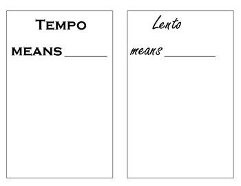 Italian Music Term Booklet