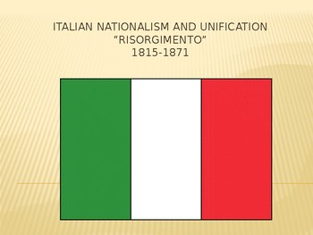 AP EURO/AICE EURO Italian Nationalism and Unification Powerpoint