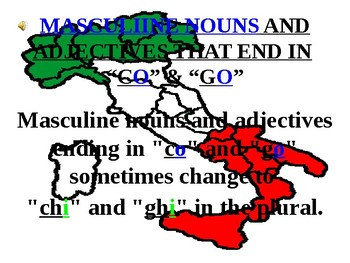 "Italian Made Simple: Nouns and Adjectives Ending in ""CO"" and ""GO"""