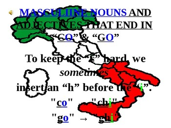 """Italian Made Simple: Nouns and Adjectives Ending in """"CO"""" and """"GO"""""""