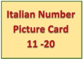 Italian Number Card 11 - 20