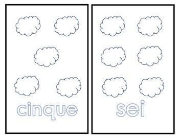 Italian Number Flashcards (1-10) I numeri in italiano