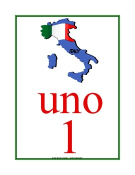Italian Number Posters 1-10