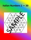 Italian Numbers 1 - 30 – Puzzle