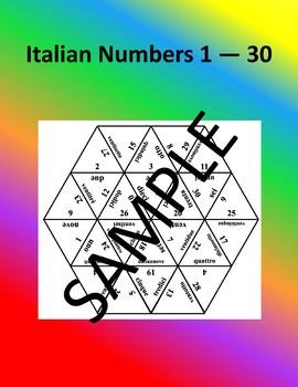 Italian Numbers 1 - 30 – Puzzle