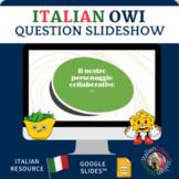 Italian OWI Personaggio Collaborativo guiding questions Google Slides