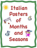 Italian Posters or Cards of the Months and the Four Seasons