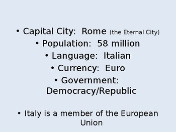 Italian Powerpoints Learn Italian Italy Rome Language Europe