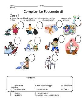 Italian Present Progressive and household chores
