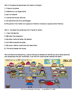 Italian Present Tense IRE and ISC Verbs