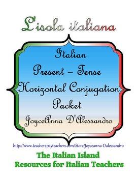 Italian Present-Tense Verb Horizontal Conjugation Packet