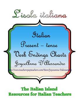 Italian Present-tense Verb Ending Chart