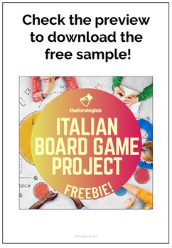 Italian Projects Packet | Speaking Practice