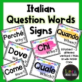 Italian Question Words ~ Water Color Themed