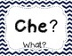 Italian Question Words Poster Set
