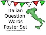 Italian Question Words Poster Set Volume 2