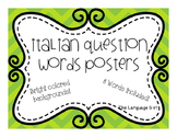 Italian Question Words Posters