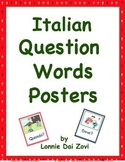 Italian Question Words Visuals (in color) For Walls