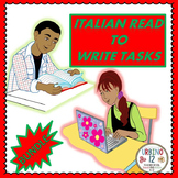 Italian Read to Write Tasks Bundle