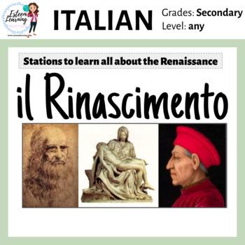 Italian Renaissance (Rinascimento) Stations & Activities