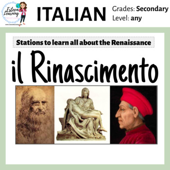 Italian Renaissance (Rinascimento) Stations & Activities