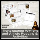 Italian Renaissance Writers & Artists Reading & Art Activity