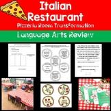 Italian Restaurant Pizzeria Room Transformation- Language Arts Review