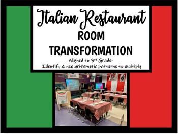 Italian Restaurant Room Transformation (Aligned to 3rd Grade Math)