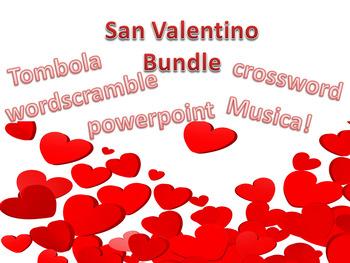 Italian Saint Valentines day bundle San Valentino tombola musica
