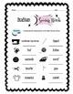 Italian Sewing Words Worksheet Packet