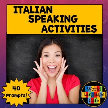Italian Speaking Activities, Test for Midyear, Midterm or Final Exams