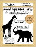 Animal Speaking Cards - Italian