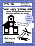 School Supplies Speaking Cards - Italian