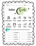 Italian Sports Worksheet Packet