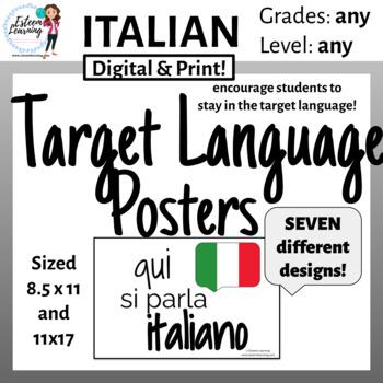 Italian Target Language Classroom Poster