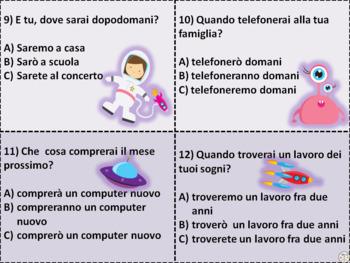 Italian Task Cards: Il Futuro Semplice