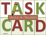 Italian Task Cards: L'Aula in Italiano