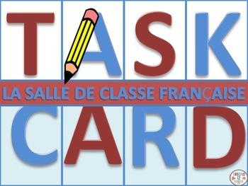 French Task Cards: La Salle de Classe Française