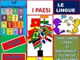 Italian Task Cards: Le Nazionalità, I Paesi e Le Lingue