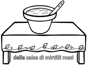 Italian Thanksgiving  Coloring