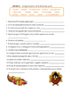 Italian Thanksgiving Day Packet