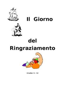 Italian Thanksgiving activities  Gr. 6-12