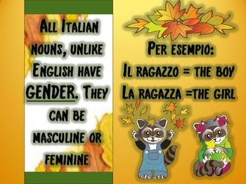 Italian: The Definite Articles