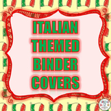 Italian Themed Binder Covers