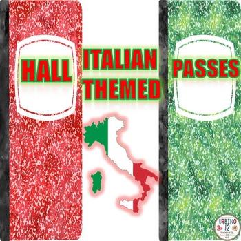 Italian  Themed Hall Passes