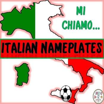 Italian Themed Nameplates