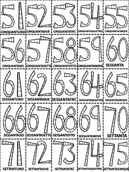 Italian: Tombola dei Numeri 1-100