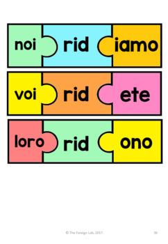 Italian Verb Conjugation Puzzles   ̴  PRESENT TENSE